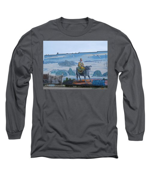 Mural In Chinatown Vancouver Long Sleeve T-Shirt