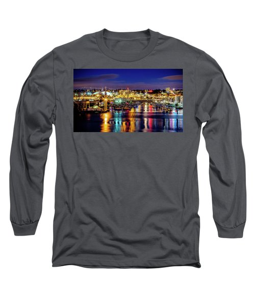 Murray Morgan Bridge View During Blue Hour In Hdr Long Sleeve T-Shirt