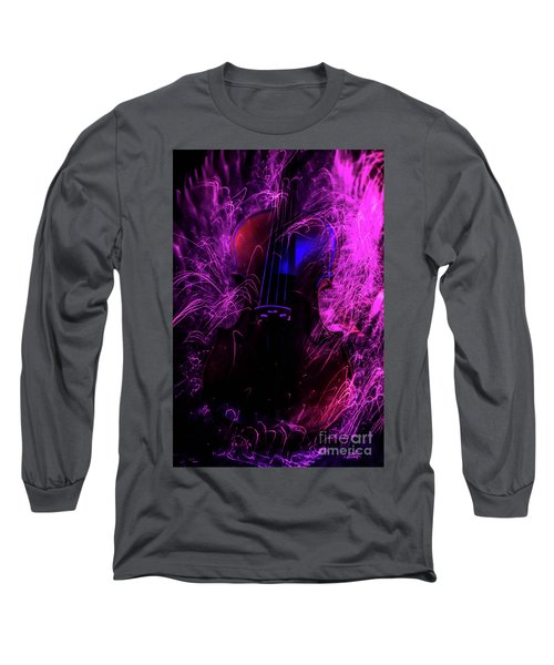 Music Light Painting  Long Sleeve T-Shirt
