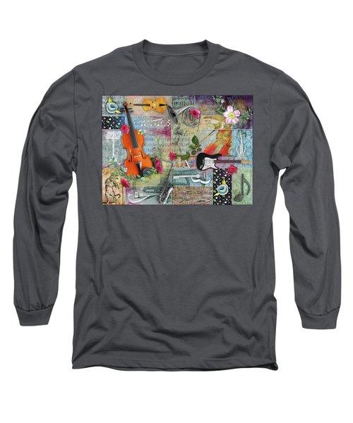 Musical Garden Collage Long Sleeve T-Shirt