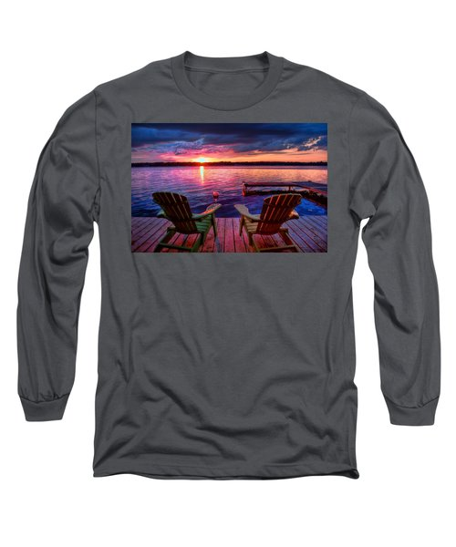 Muskoka Chair Sunset Long Sleeve T-Shirt