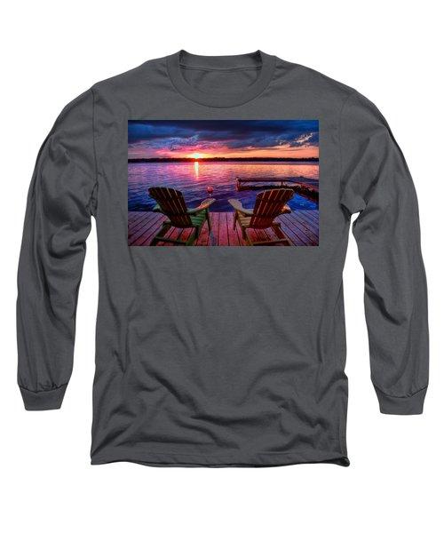Muskoka Chair Sunset Long Sleeve T-Shirt