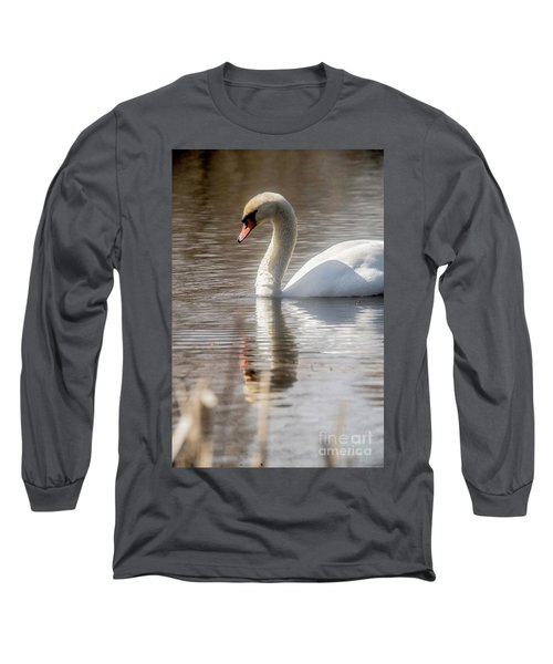 Long Sleeve T-Shirt featuring the photograph Mute Swan - 2 by David Bearden