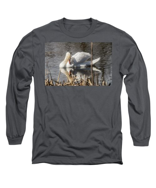 Long Sleeve T-Shirt featuring the photograph Mute Swan - 3 by David Bearden