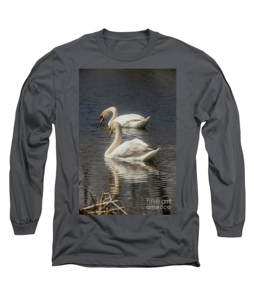 Long Sleeve T-Shirt featuring the photograph Mute Swans by David Bearden