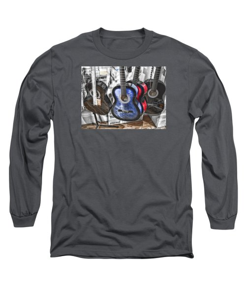 Muted Guitars Long Sleeve T-Shirt