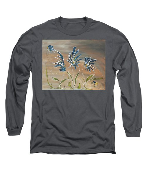 My Blue Garden Long Sleeve T-Shirt by Pat Purdy