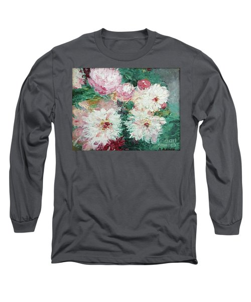 My Chrysanthemums Long Sleeve T-Shirt by Barbara Anna Knauf
