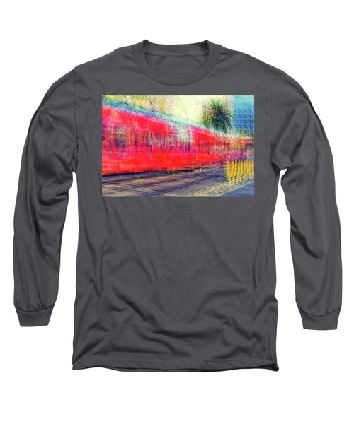 My City's Got A Trolley Long Sleeve T-Shirt by Joseph S Giacalone