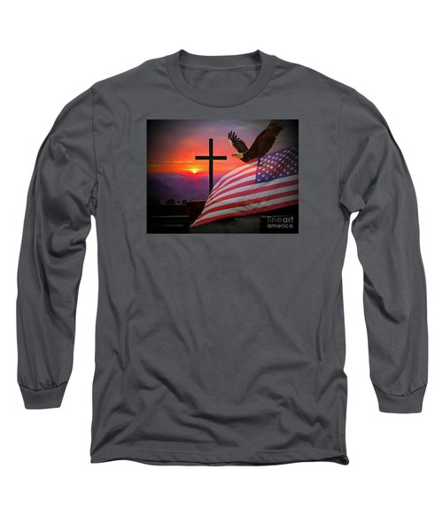 My Country Long Sleeve T-Shirt by Geraldine DeBoer