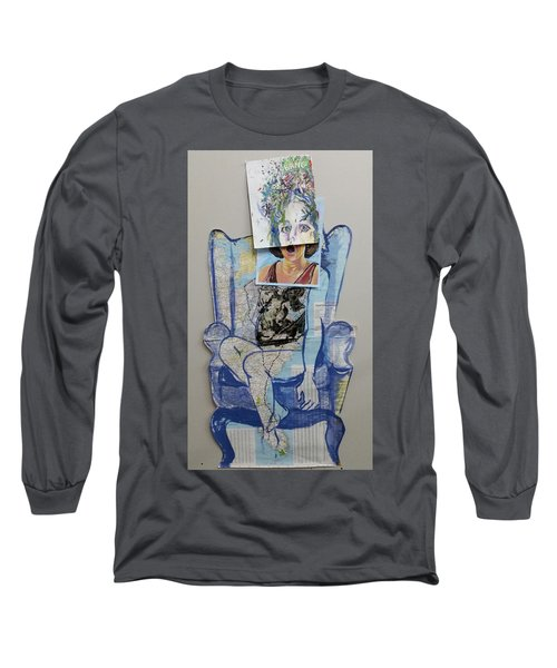 Long Sleeve T-Shirt featuring the painting My Foot Is In Miami by Tilly Strauss