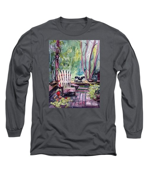 Long Sleeve T-Shirt featuring the painting My Front Porch by Gretchen Allen