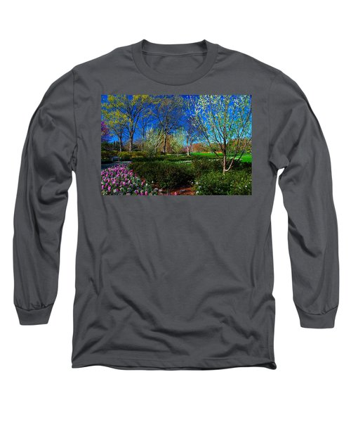 My Garden In Spring Long Sleeve T-Shirt by Diana Mary Sharpton