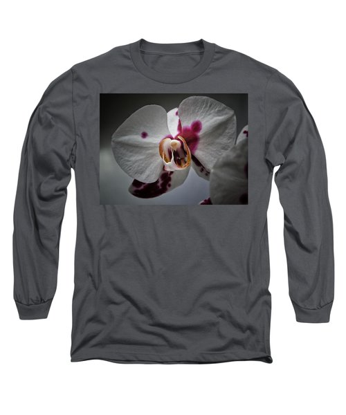 Long Sleeve T-Shirt featuring the photograph My Growling Dragon Orchid. by Karen Stahlros