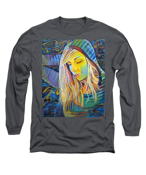 Long Sleeve T-Shirt featuring the painting My Love by Joshua Morton