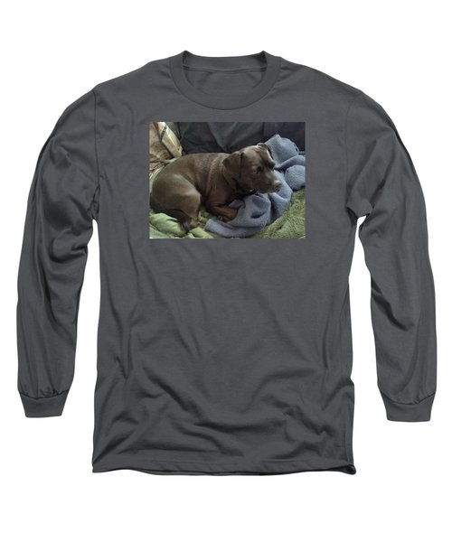Long Sleeve T-Shirt featuring the photograph My Puppy Bella by Jewel Hengen