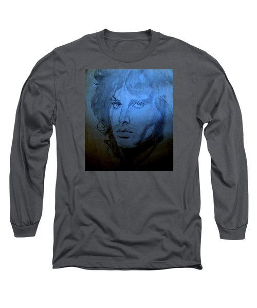 Long Sleeve T-Shirt featuring the drawing My Rock N' Roll Days by Bill OConnor