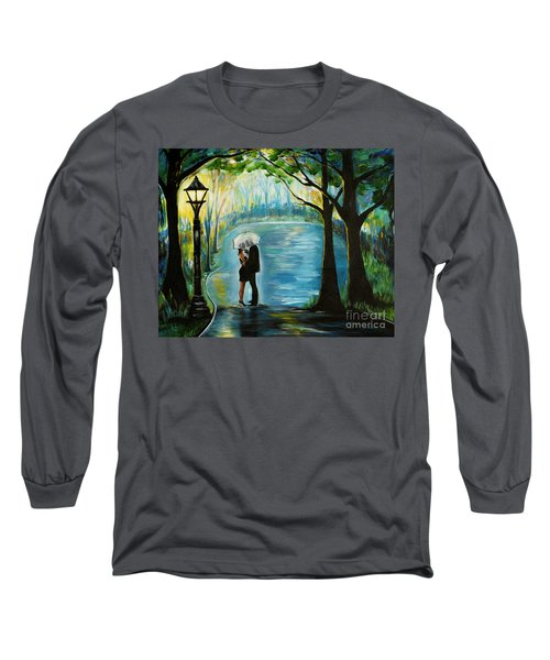 Long Sleeve T-Shirt featuring the painting My Soulmate by Leslie Allen