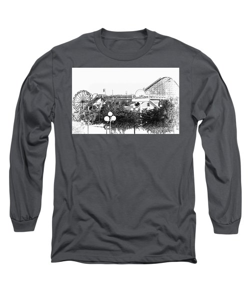 Myrtle Beach Pavillion Amusement Park Monotone Long Sleeve T-Shirt