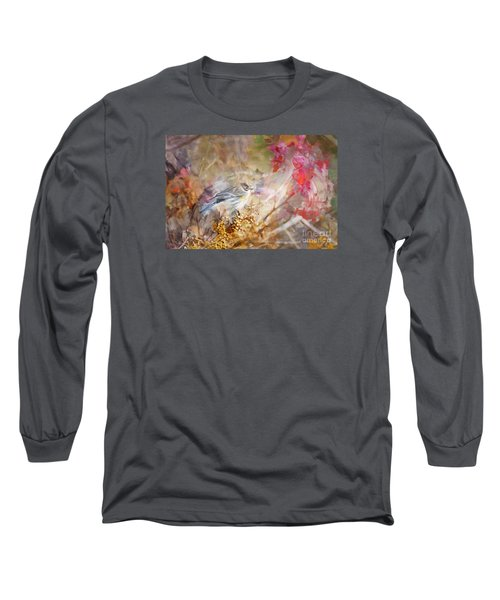 Myrtle Warbler Three Long Sleeve T-Shirt by Suzanne Handel