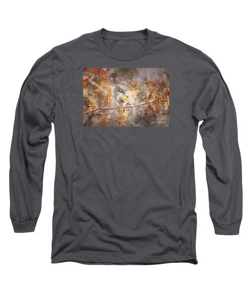 Myrtle Warbler Two Long Sleeve T-Shirt by Suzanne Handel