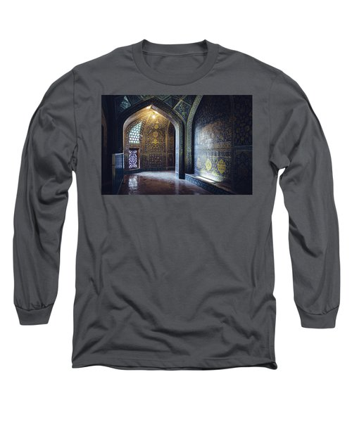 Mysterious Corridor In Persian Mosque Long Sleeve T-Shirt