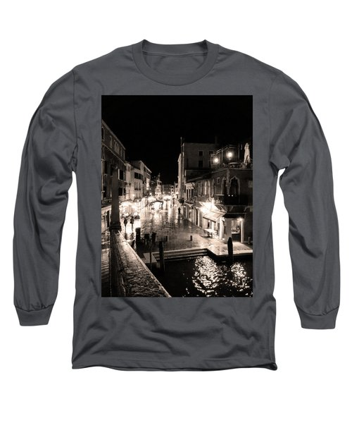 Mysterious Venice Monochrom Long Sleeve T-Shirt
