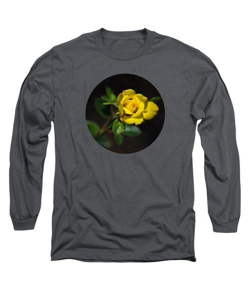 Long Sleeve T-Shirt featuring the photograph Mystic Yellow Rose by Christina Rollo