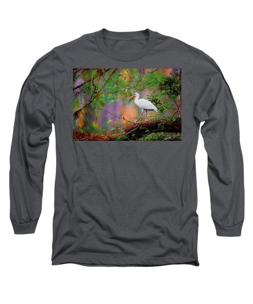 Mystical White Ibis Long Sleeve T-Shirt
