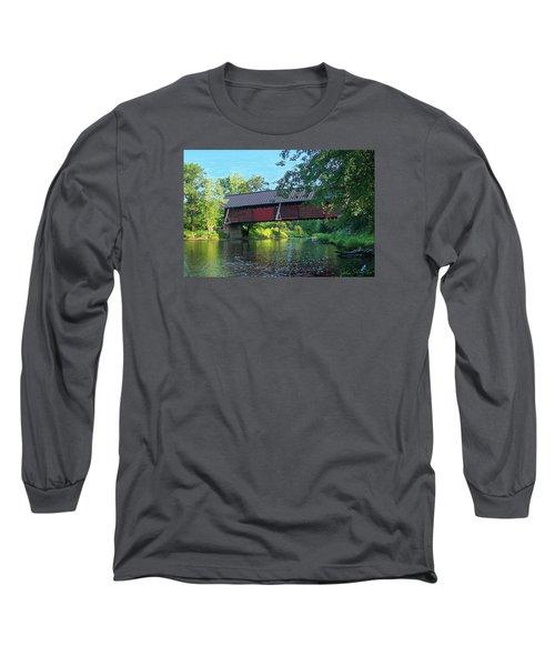 N. Troy Bridge Long Sleeve T-Shirt by John Selmer Sr