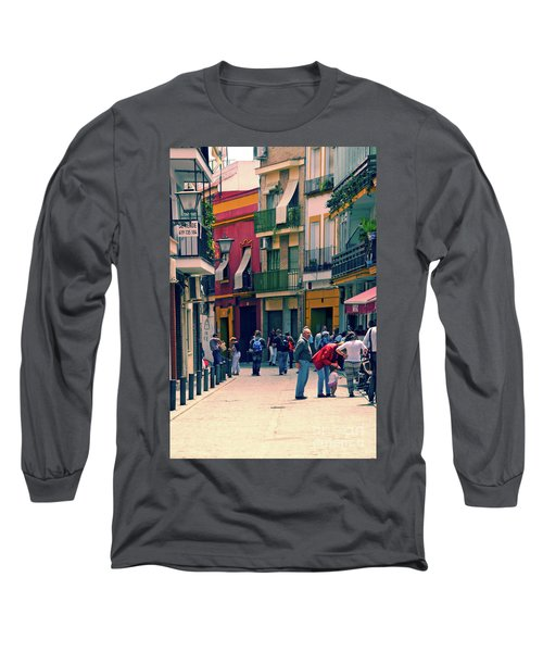 Long Sleeve T-Shirt featuring the photograph Triana On A Sunday Afternoon 1 by Mary Machare