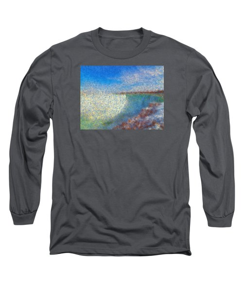 Long Sleeve T-Shirt featuring the painting Nagara Falls Point Of View by Mario Carini