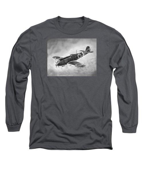 Nakajima Ki84 Long Sleeve T-Shirt by Douglas Castleman
