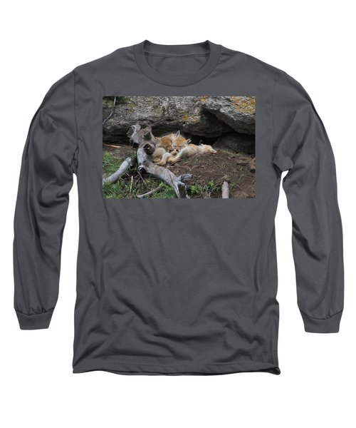 Long Sleeve T-Shirt featuring the photograph Nap Time by Steve Stuller
