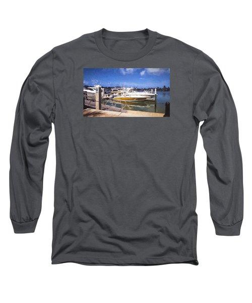 Naples Dock Long Sleeve T-Shirt by Rena Trepanier