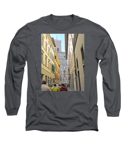 Narrow Street To Catherdal Square Long Sleeve T-Shirt by Allan Levin