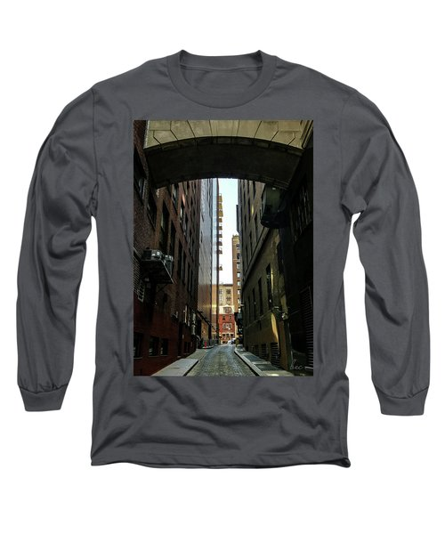 Narrow Streets Of Cobble Stone Long Sleeve T-Shirt by Bruce Carpenter