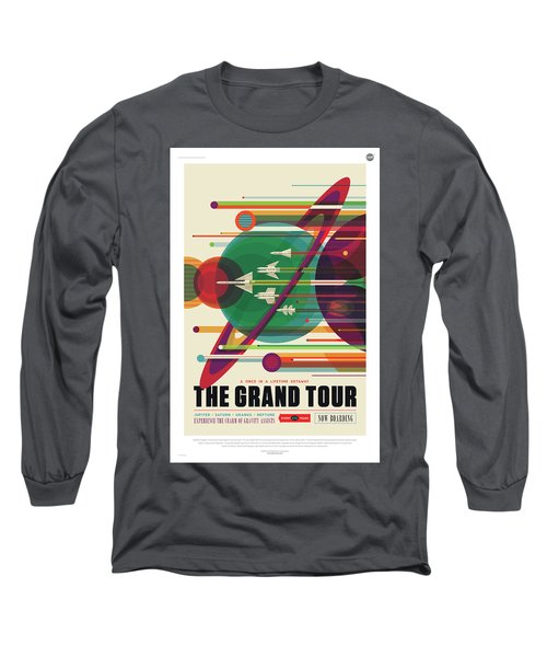 Nasa The Grand Tour Poster Art Visions Of The Future Long Sleeve T-Shirt