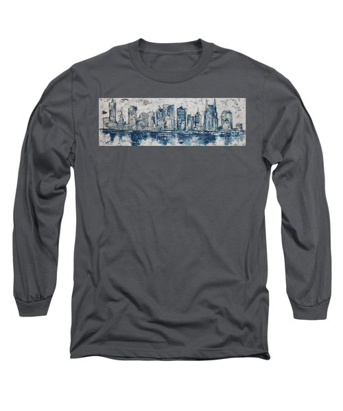 Nashville In Blues Long Sleeve T-Shirt