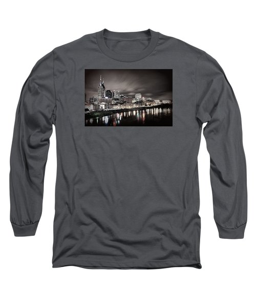 Nashville Skyline Long Sleeve T-Shirt by Matt Helm