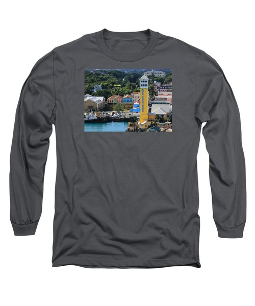 Long Sleeve T-Shirt featuring the photograph Nassau Bahamas by Coby Cooper