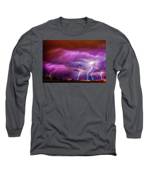 Nasty But Awesome Late Night Lightning 008 Long Sleeve T-Shirt