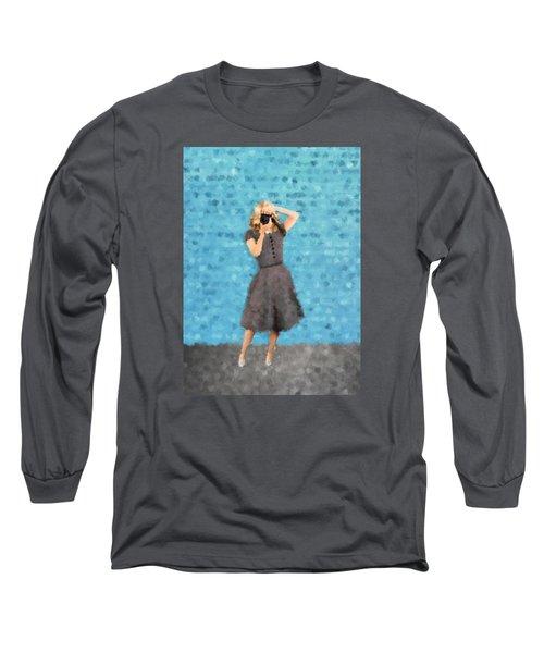 Long Sleeve T-Shirt featuring the digital art Natalie by Nancy Levan