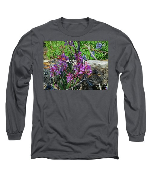 Long Sleeve T-Shirt featuring the photograph National Parks. From The Ashes To New Life. by Ausra Huntington nee Paulauskaite