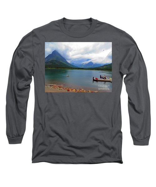Long Sleeve T-Shirt featuring the photograph National Parks. Serenity Of Mcdonald by Ausra Huntington nee Paulauskaite