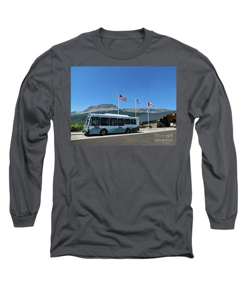 Long Sleeve T-Shirt featuring the photograph National Parks. St. Mary Visitor Center At Glacier by Ausra Huntington nee Paulauskaite