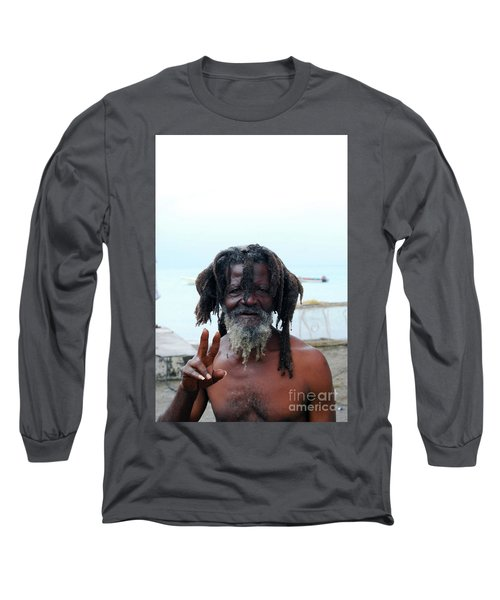 Long Sleeve T-Shirt featuring the photograph Native Man by Gary Wonning