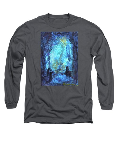 Long Sleeve T-Shirt featuring the painting Nativity by Mary Sullivan