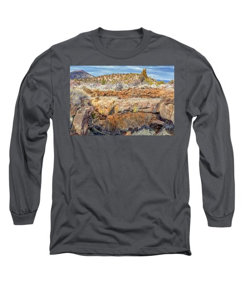 Natural Bridge At Lava Beds Long Sleeve T-Shirt