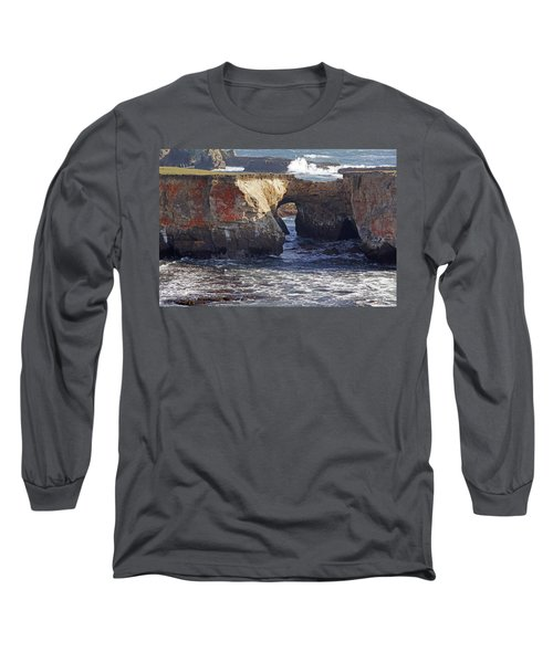 Natural Bridge At Point Arena Long Sleeve T-Shirt